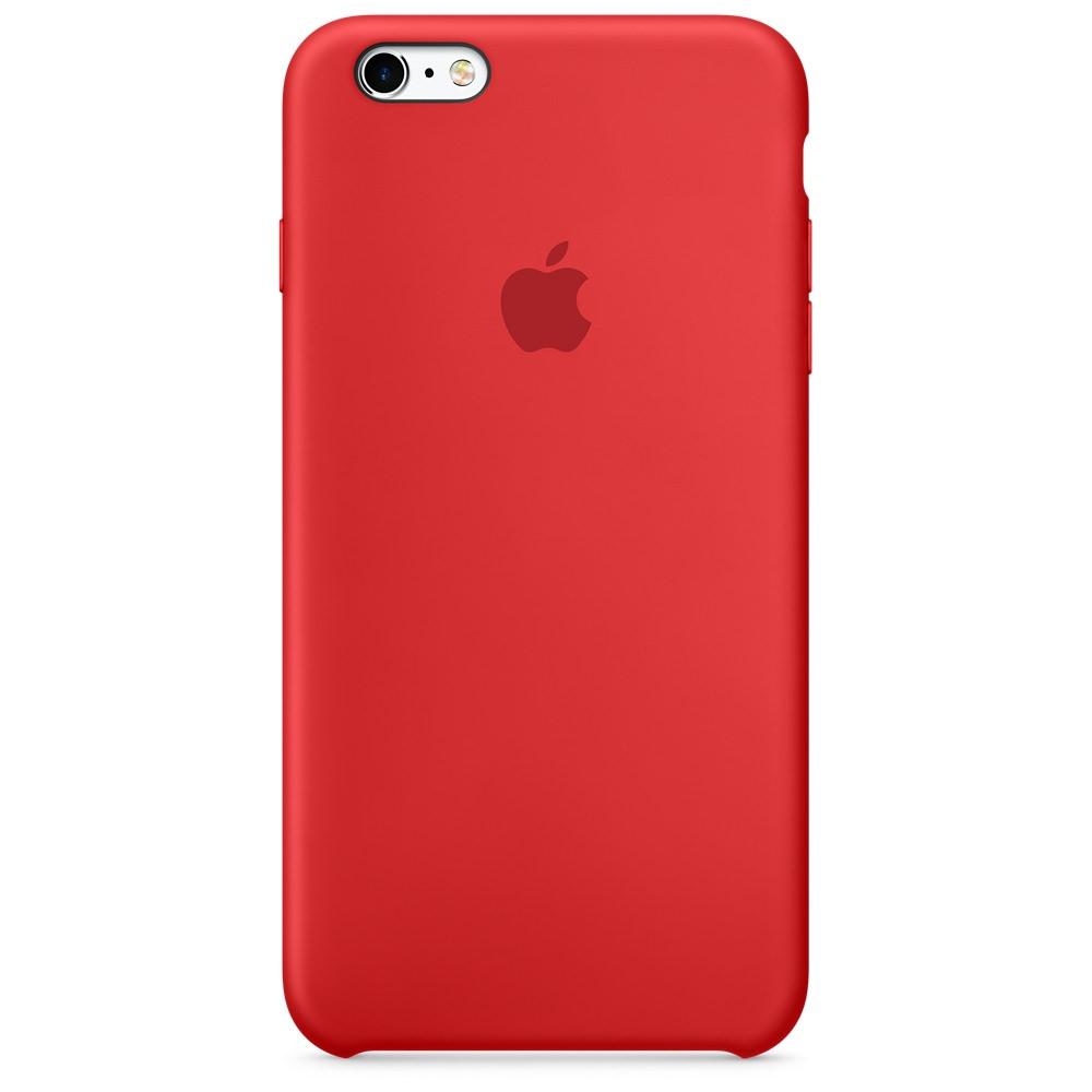Apple iPhone 6   6S silikónové puzdro - červené (Silicone Case) 0140d6b4d6a