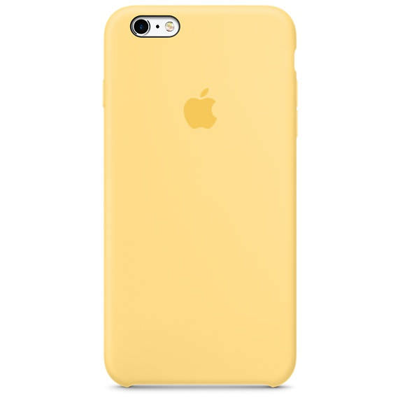 Apple iPhone 6   6S silikónové puzdro - žlté (Silicone Case) cf2499462d3