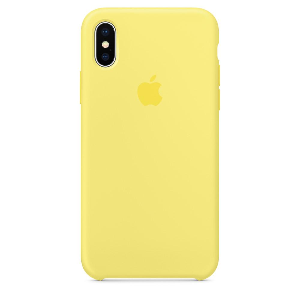 Apple iPhone X silikónové puzdro - žlté (Silicone Case) 448d16c9739