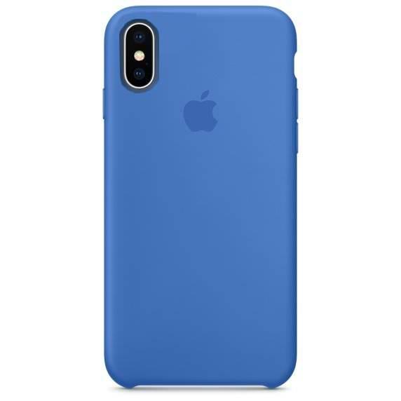 Apple iPhone X silikónové puzdro - modré (Silicone Case) 70662df3a71